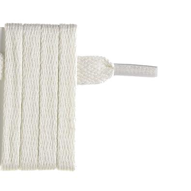 designer fashion more photos amazon France-Lacets Lacets de chaussure plat blanc cassé 150 cm ...
