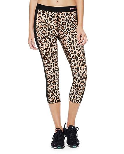 4da76cfa189c2 Amazon.com: Juicy Couture Compression Crop Sport Leggings - Leopard (M):  Clothing