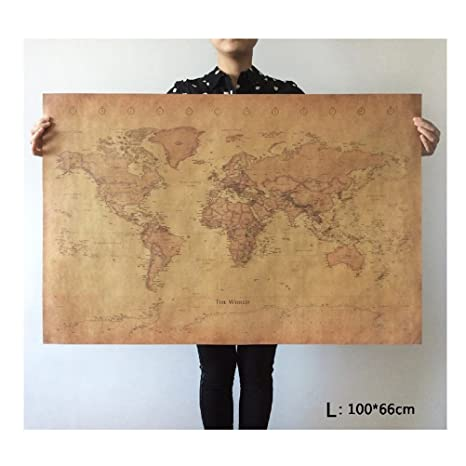 Choose size the old world map huge large vintage style retro paper choose size the old world map huge large vintage style retro paper poster home wall gumiabroncs Images