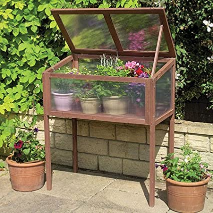 Amazon.com: Raised Wooden Greenhouse Cold Frame: Kitchen & Dining