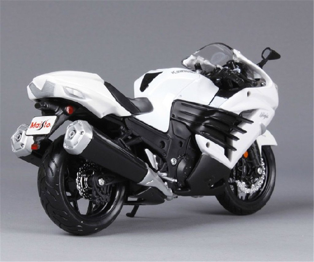 Buy 1 12 Kawasaki Ninja Zx 14r White Diecast Model Bike Motorcycle