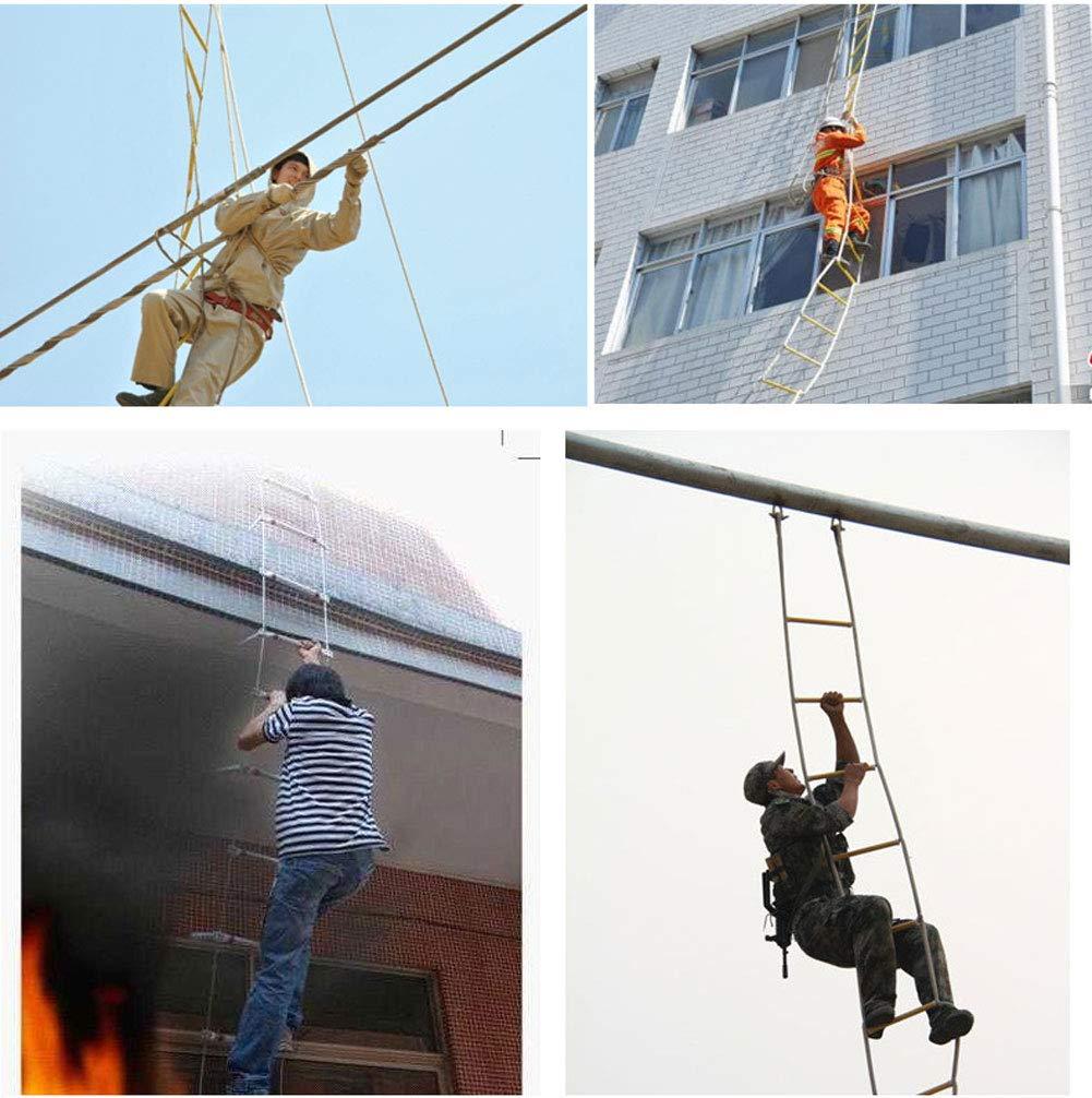 MFZTQ Scale Di Emergenza Antincendio,Scala Di Salvataggio 10M Per Arrampicata Morbida Per Bambini E Adulti Per Lavoro Scala In Corda Evacuazione Salvataggio