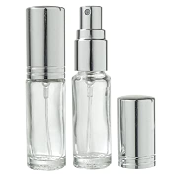Amazon.com   Clear Glass Refillable Travel Perfume Spray Bottle - .15 oz (2  Pack)   Beauty 81c8509b1545