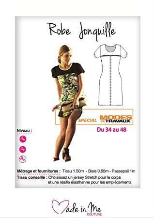 929b8376be9 MADE IN ME - Patron Thermocollant - Robe Jonquille - patron de couture -  Planche patron