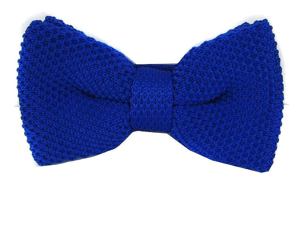 Royal Blue Knit Pre-Tied Bow Tie