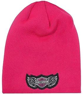 8d54d8eb1f2 Amazon.com  Harley-Davidson Girls Pink Knit Hat Gloves Scarf Set ...