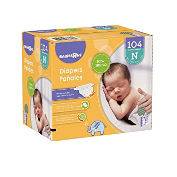 Babies R Us Newborn Super Pack Diapers- 104 Count