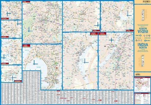 Cartina India Del Nord.Amazon It India Del Nord Laminato Carta Stradale 1 3 000 000 Borch Borchmaps Collectif Libri