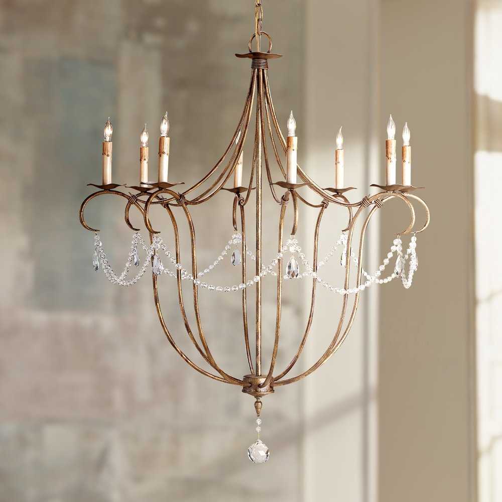 Currey and company 9881 8 light crystal light chandelier rhine currey and company 9881 8 light crystal light chandelier rhine gold finish chandeliers amazon mozeypictures Image collections