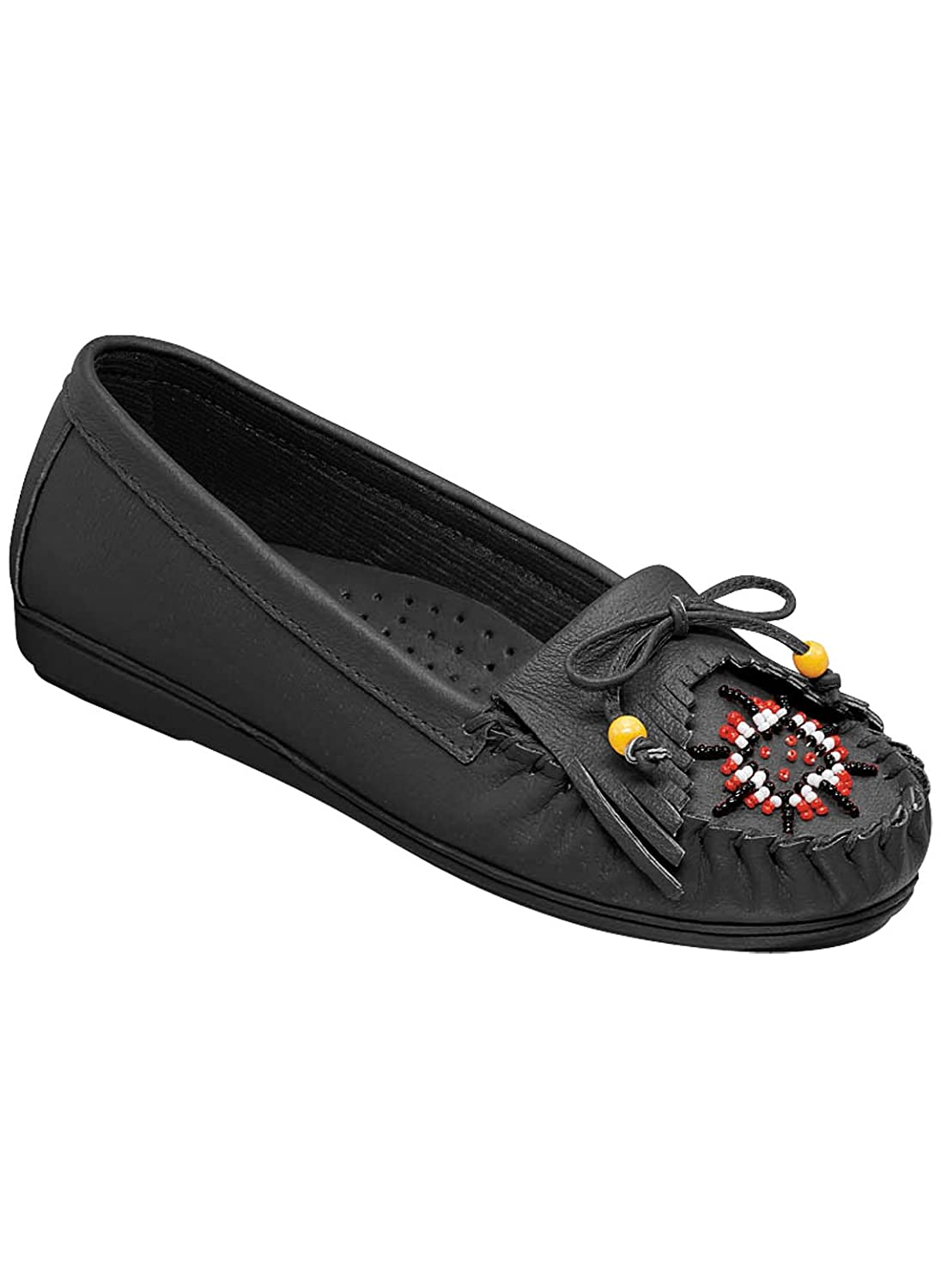 Genuine Leather Beaded Moccasins