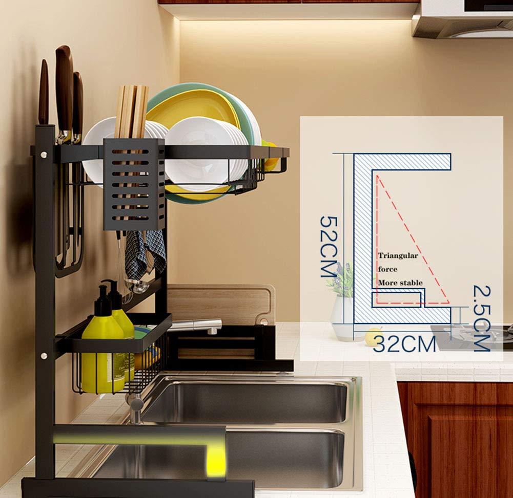 XUE Abtropfbrett Edelstahl K/üchenregal Sp/üle Geschirr K/üche Lebensmittelecht Regal Einfache Geschirr K/üche Liefert Lagerregal Organizer Workstation Regal 65 cm 85 cm,65cm