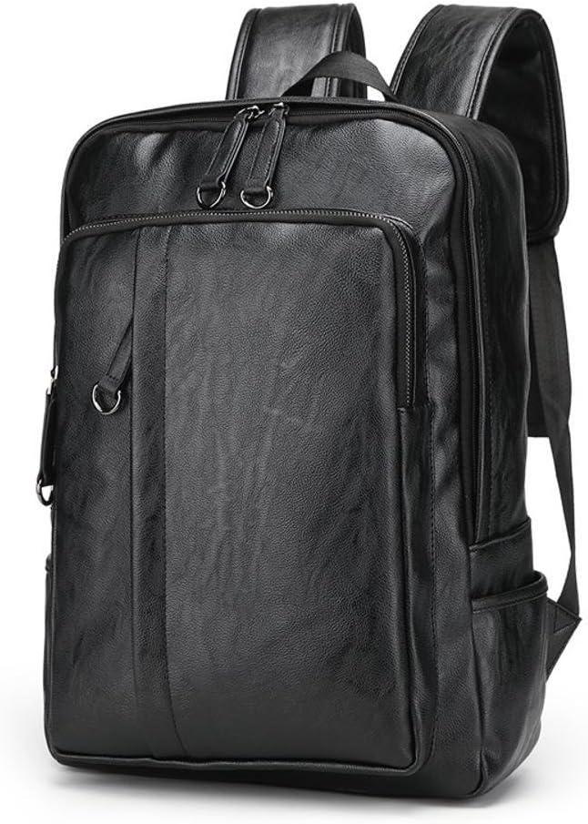 Mayanyan Mens Leisure Business Double Shoulder Backpack Fashion PU Double Shoulder Bag