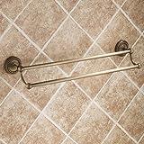 Lightinthebox® Wall Mount Lavatory Bath Shower Accessories Antique Elegance Double Bars Brass Bathroom Towel Bar Bronze Towel Racks Shelf Free Standing Towel Shelves Bars Holder Robe Hooks Racks