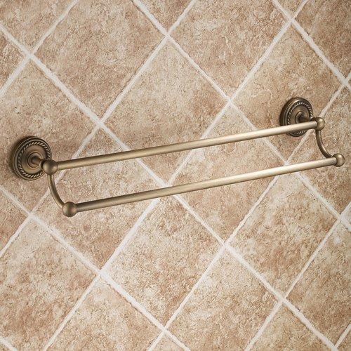 Lightinthebox Wall Mount Lavatory Bath Shower Accessories Antique Elegance Double Bars Brass Bathroom Towel Bar Bronze Towel Racks Shelf Free Standing Towel Shelves Bars Holder Robe Hooks Racks ()