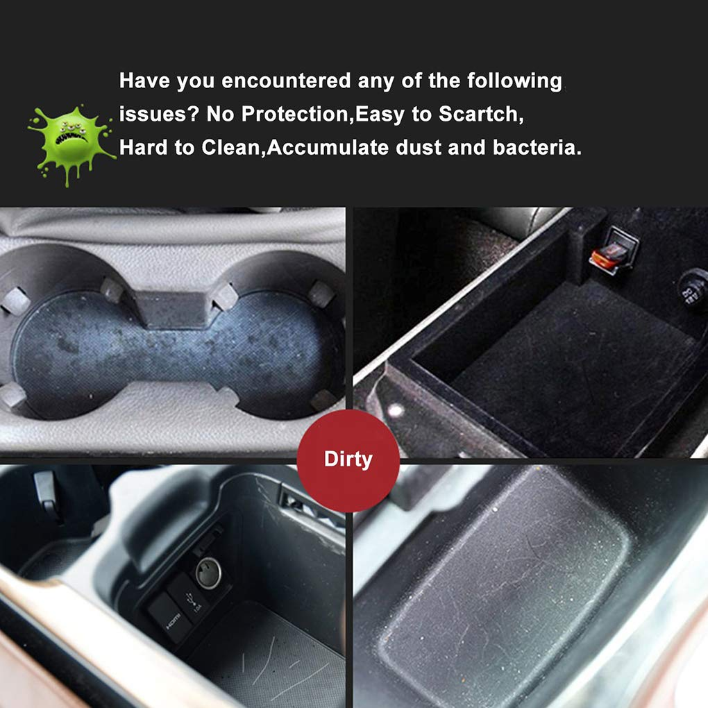 AUWU 11Pcs Replacement for Toyota RAV4 2013-2015 Anti-Slip Gate Slot Mat Cup Coaster Door Groove Stickers