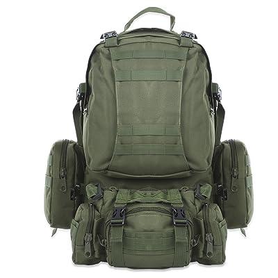 extérieur 50L Sac à dos militaire tactique Molle Sac à dos Sacs à dos randonnée Camping Camouflage résistant à l'eau Sacs de sport