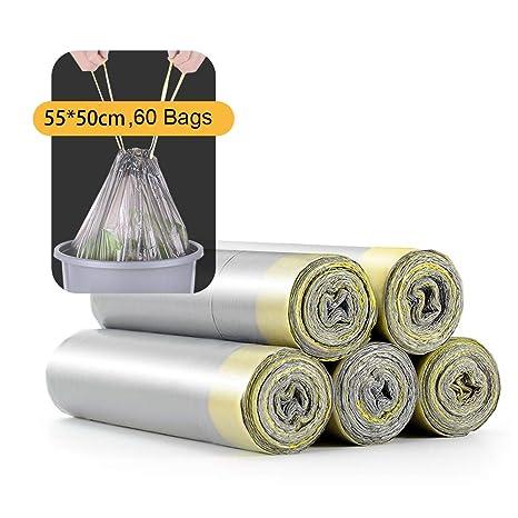 Amazon.com: Usmascot Bolsas de basura con cordón, ultra ...