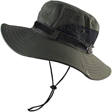 Mens Sun Hats Summer Large Wide Brim Camouflage Fashion Jazz Caps