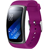 """Aresh for Samsung Gear Fit 2 Band/Gear Fit 2 Pro Band, Replacement Bands Accessories for Samsung Gear Fit2 Pro SM-R365/Gear Fit2 SM-R360 Smartwatch (Black 5.9""""-7.5"""")"""