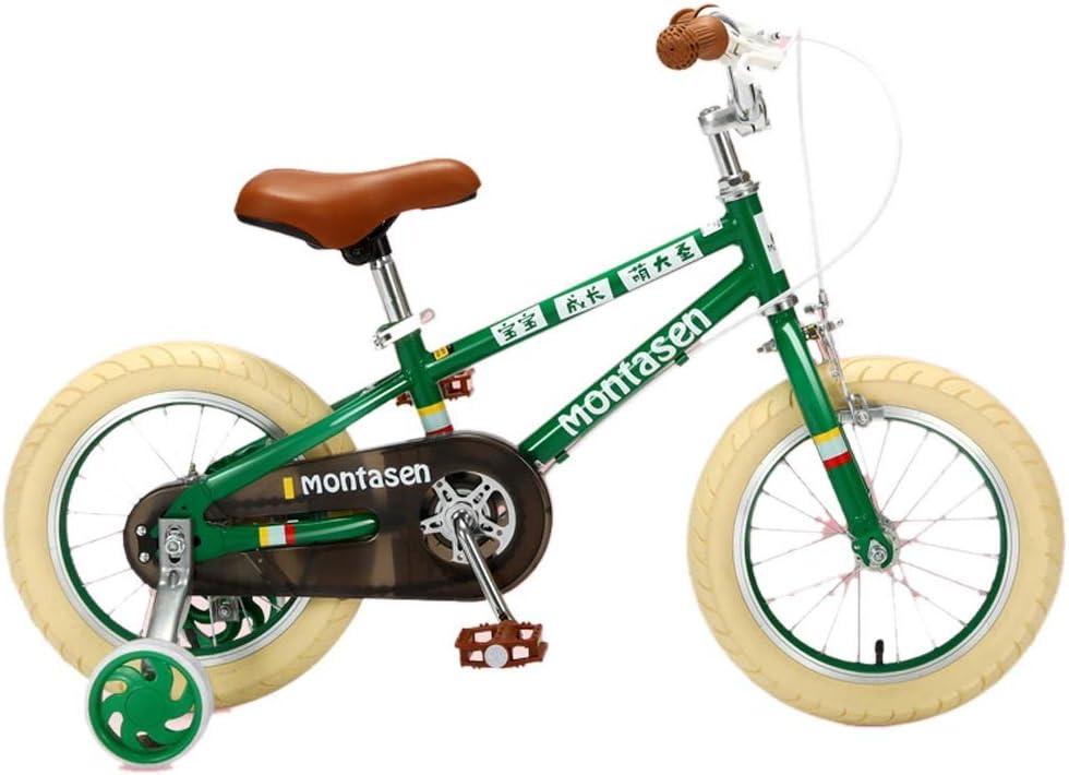 Bicicletas Para Niños Niños De Moda Bebés De 3 A 6 Años Niños Al Aire Libre Niños (Color : Green , Size : 14 Inches) : Amazon.es: Juguetes y juegos