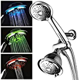 Early Bird Christmas Special Save Over 50% on PowerSpa® Color-Changing 3-way LED-Shower-Combo. Chrome 7 Color LED-Shower-Head and Handheld-Shower with Air Turbo Technology by Top Brand Manufacturer