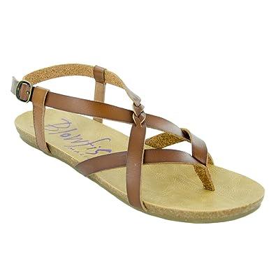 Amazon.com | Blowfish New Women's Granola Sandal Scotch Dyecut 6.5 | Sandals