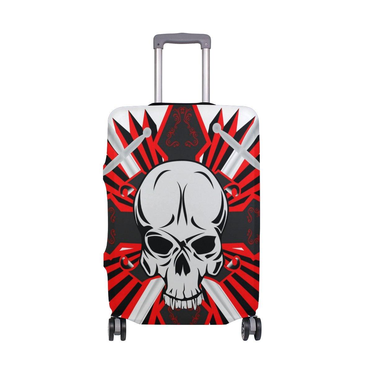 旅行荷物カバーFits 18 – 20インチスーツケースwith Skull with Crossプリントスーツケースカバー S 18-20 in  B07FSP43VG