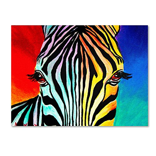 (Zebra Artwork by DawgArt, 18 by 24-Inch Canvas Wall Art)