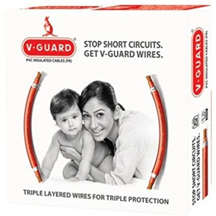 V-Guard 1.0 Sq.mm 90 Mtr House Wire (Yellow) Pack of 3