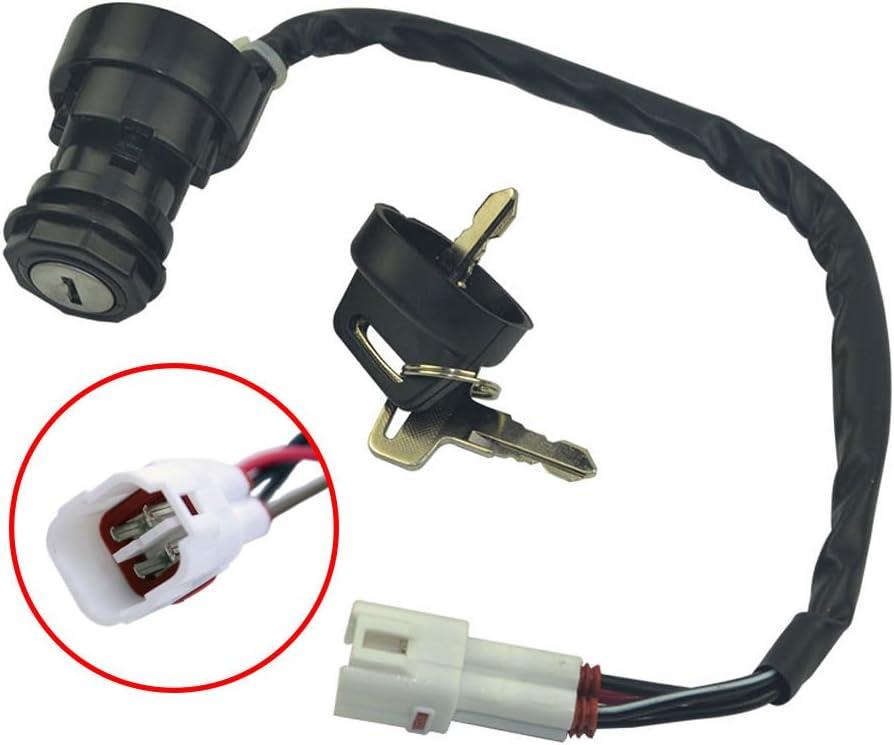 Hity Motor Ignition Key Switch For Yamaha Kodiak 400 1993-2001 YFM400 Big Bear 400 2000