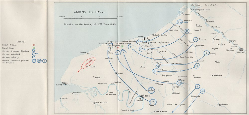 Map Of France Le Havre.Amazon Com Fall Of France 1940 Amiens Le Havre Dieppe 10th June