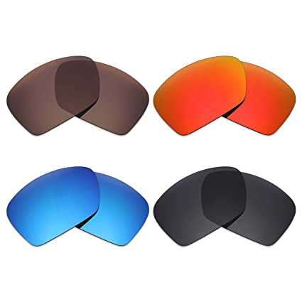 f5302a98647 Image Unavailable. Image not available for. Color  Mryok 4 Pair Polarized  Replacement Lenses for Oakley Plaintiff Squared ...
