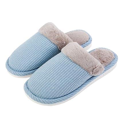 Zapatillas de Zapatillas de casa felpa de Zapatillas de algodón suaves Zapatillas casa BoexWrCd