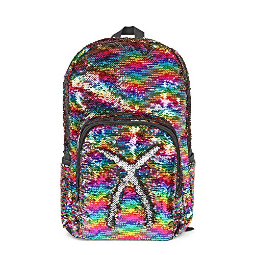 Magic Reversible Sequin Backpack,Sparkly Lightweight Back Pack for Girls and Boys, 1712