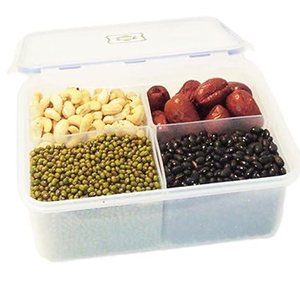 nikgic arroz recipiente contenedor portátil caja de plástico dispensador de cereales arroz 4 del cajón de