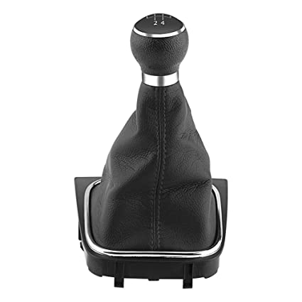 Perilla de cambio de marchas manual de 6 velocidades Arranque perilla de palanca de cambios del coche Palanca de la palanca del percutor