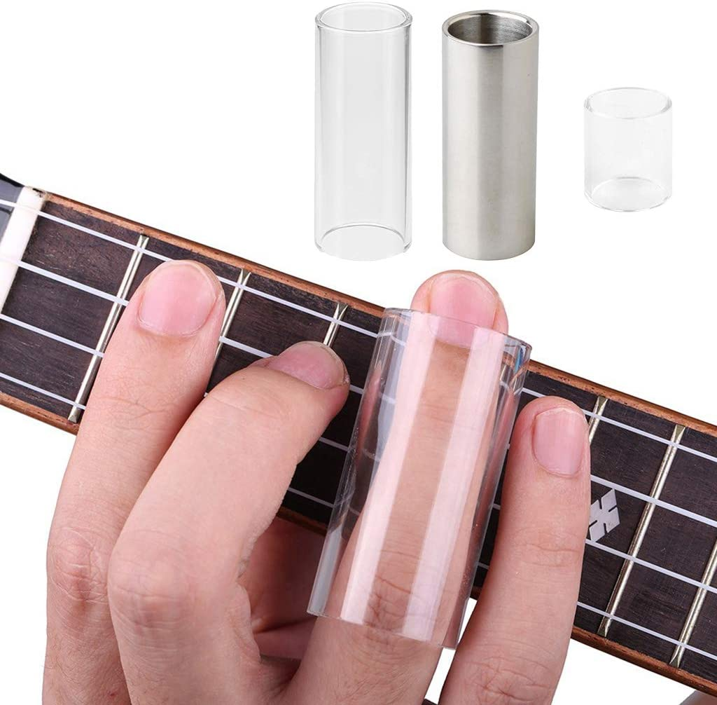String Slide +2 Pcs Barra de Acero Inoxidable Guitarra de Tono ...