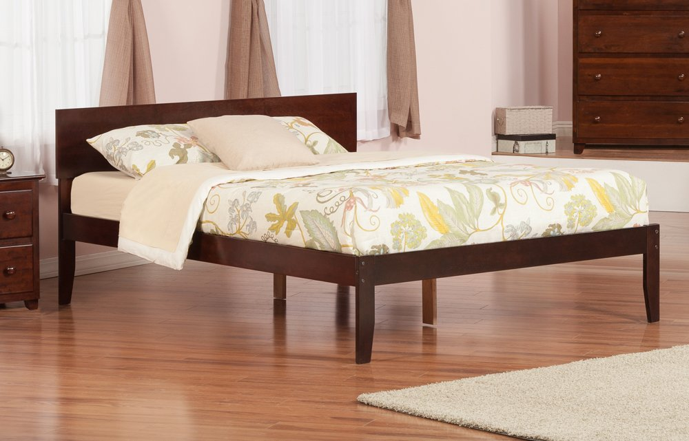 Amazon.com: Orlando Open Foot Bed, King, Antique Walnut: Kitchen U0026 Dining