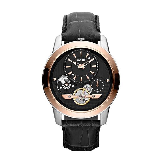 Fossil Grant ME1125 - Reloj para hombres, correa de cuero color negro: Fossil: Amazon.es: Relojes