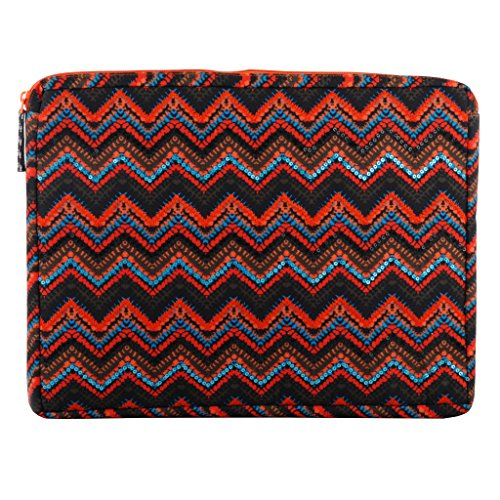 Laptop sleeve multicolor shockproof with additional zipper sleeve at the back for Macbook air Dell Toshiba Sony Samsung Acer Hp Chromebooknotebook Ipad pro 12.9 inch (Best Toshiba Laptops In India)