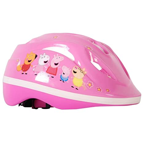 Casco de bicicleta Peppa Pig ajustable Disney: Amazon.es ...