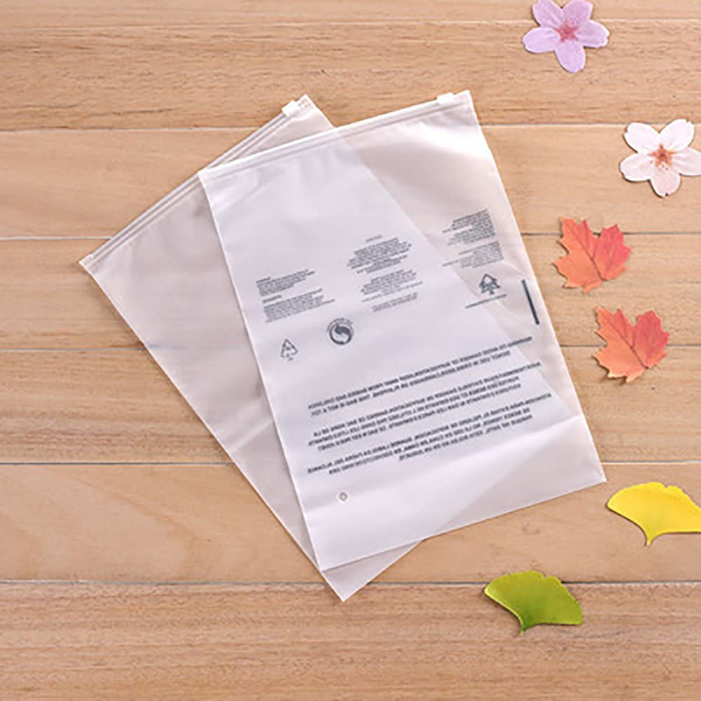 Lldaily Clear Poly Bags with Suffocation Warning-5 mil 14x16-Extra Strong Seal,Pack of 100