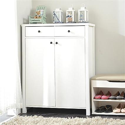 Amazon.com: ALUS  Shoe Rack/Shoe Cabinet Nordic Modern Door Open Shoe  Cabinet Large Capacity Assembly Locker (Color : White): Kitchen U0026 Dining