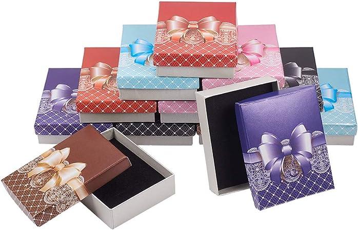 24Pcs Rose Noeud Boucle d/'oreille Boîte de rangement Bracelet Collier Bijoux Boîte Coffret Cadeau