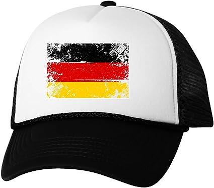 GERMANY Flag Hat German Soccer SnapBack Trucker Mesh Cap