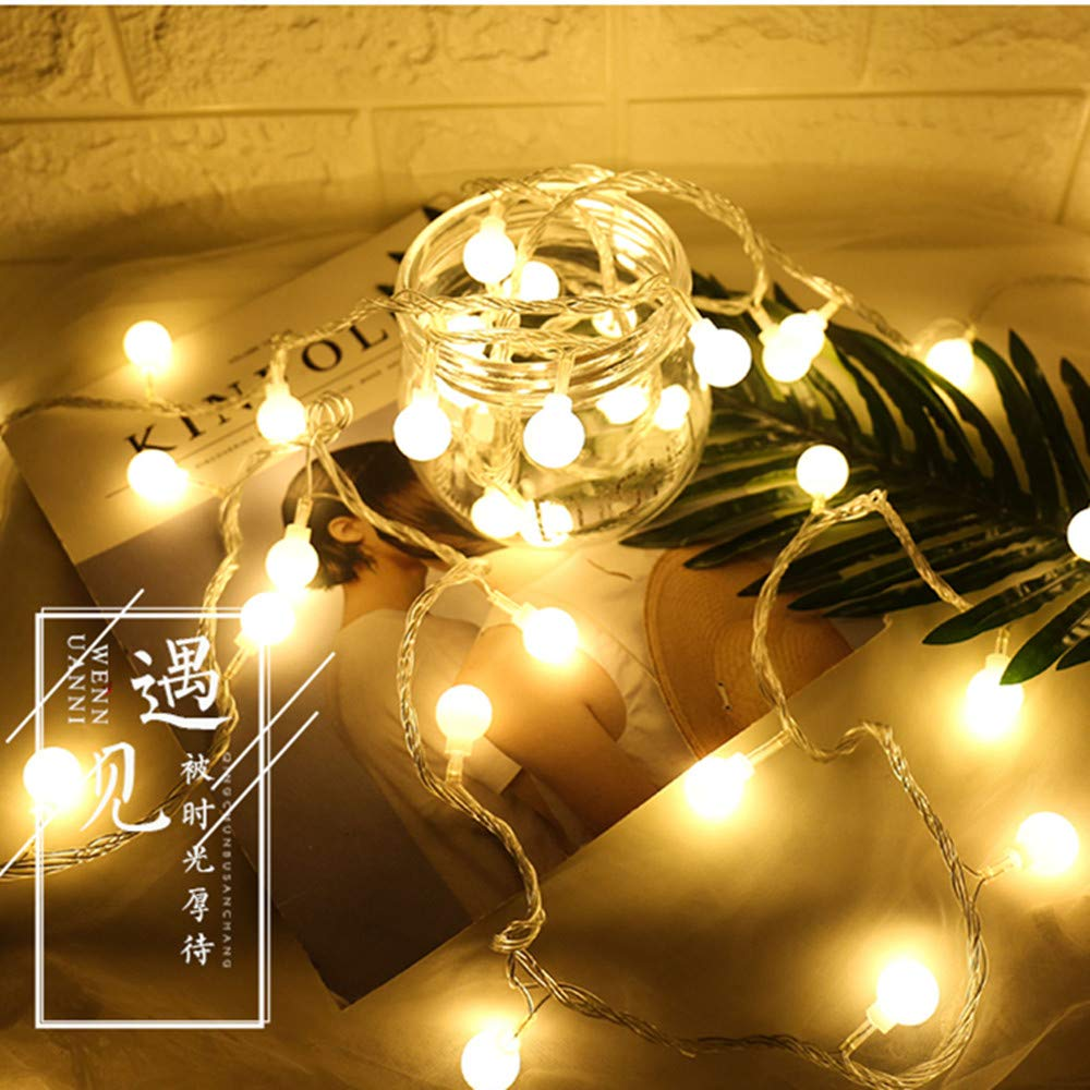 padom 3.0m 20 Light AAA Power IP44 Outdoor Indoor Warm-White Ball String LED String Lights Christmas Lights Holiday Wedding Party Decoration Luces LED (Without Batteries)