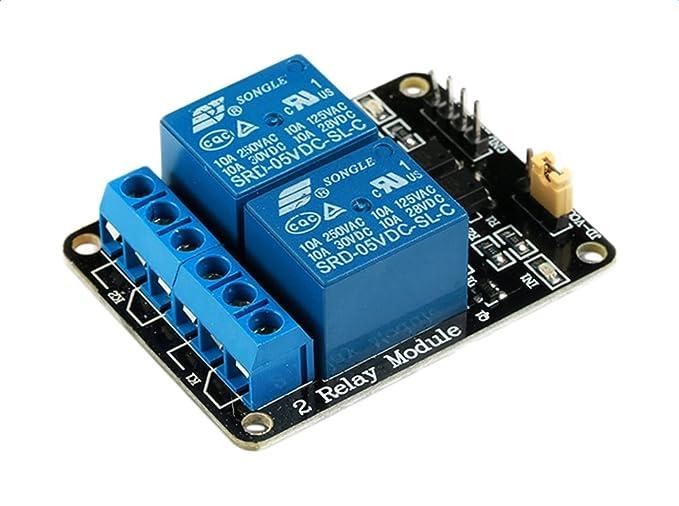 Demarkt 2-Wege-Relaismodul mit Optokoppler Mit Schutz 12V