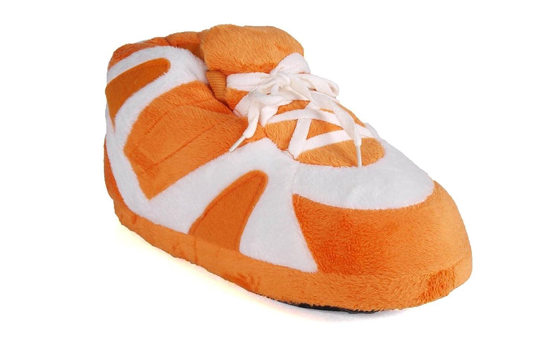 Happy Feet - Orange and White - Slippers - XL