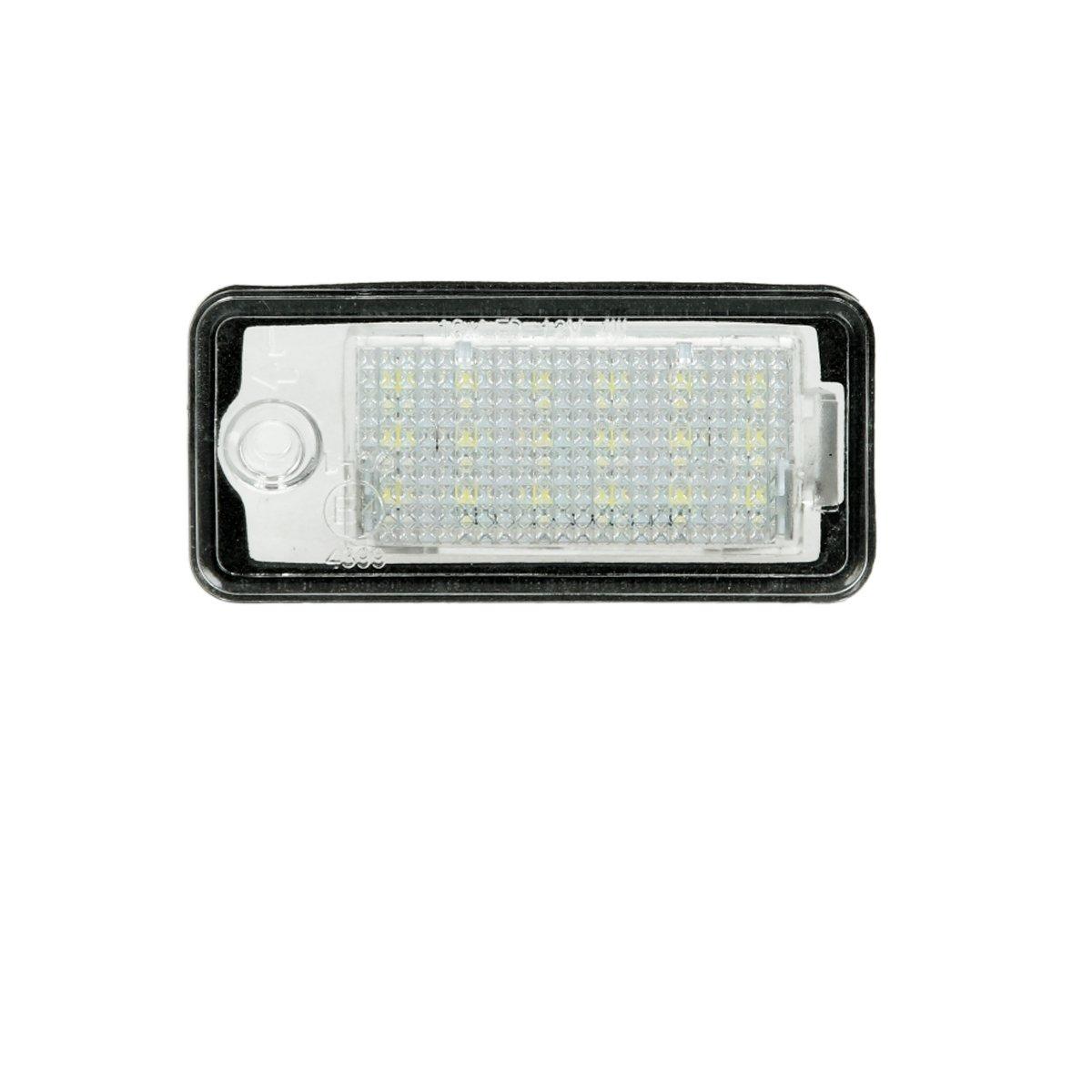 ECD Germany 2 x LED Kennzeichenbeleuchtung mit E-Prüfzeichen 18 SMD ...