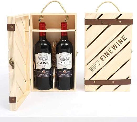 Compra TFACR Estuche de Vino de Madera Vintage - Caja de Vino de ...
